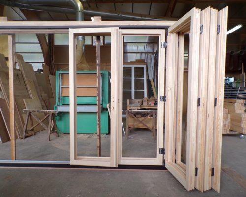 baie vitrée arcordéon avant passer au cabine